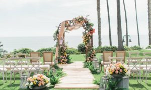 Colorful Oceanfront Wedding Strings