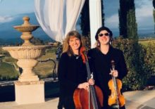 string duo wedding