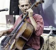 Cello Player in Los Angeles Rock